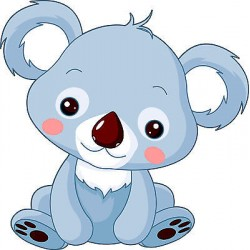 Sticker enfant Koala réf 2546 (Dimensions de 10 cm à 130cm de hauteur)