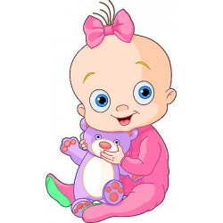 Sticker enfant Bébé réf 2545 (Dimensions de 10 cm à 130cm de hauteur)