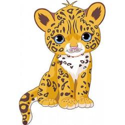Sticker enfant Bébé Jaguar réf 2535 (Dimensions de 10 cm à 130cm de hauteur)