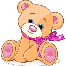 Sticker enfant Bébé ourson réf 2528 (Dimensions de 10 cm à 130cm de hauteur)