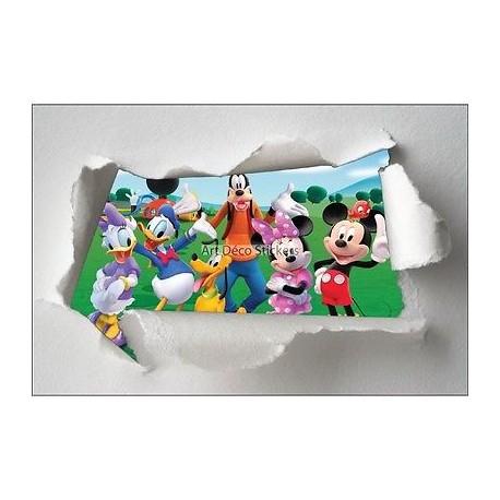 Stickers enfant papier déchiré Mickey réf 7637