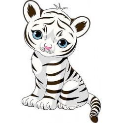 Sticker enfant décoration murale Tigre Tigrou réf 885