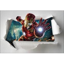 Stickers enfant papier déchiré Iron Man Avengers réf 7648