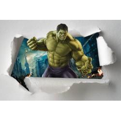 Stickers enfant papier déchiré Hulk Avengers réf 7650
