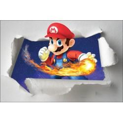 Stickers enfant papier déchiré Mario réf 7653