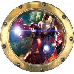 Sticker hublot enfant Avengers 9566