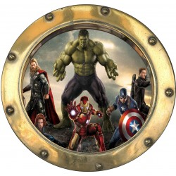 Sticker hublot enfant Avengers 9568