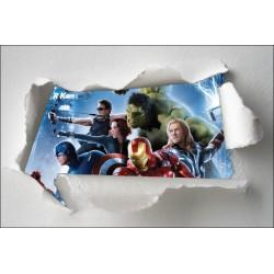 Stickers enfant papier déchiré Avengers réf 7665