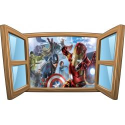 Sticker enfant fenêtre Avengers réf 1074