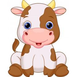 Stickers muraux enfant Animaux Vache 15245