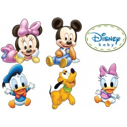 Stickers autocollant Mickey Minnie Pluto Donald Daisy 17557