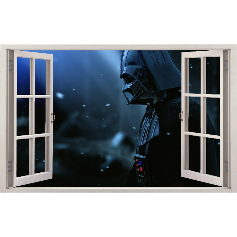 stickers fen tre dark vador star wars r f 11132 stickers muraux enfant. Black Bedroom Furniture Sets. Home Design Ideas