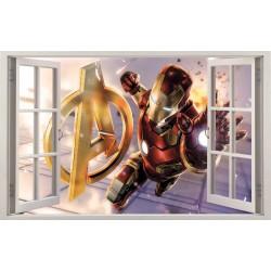 Stickers fenêtre Avengers Iron Man réf 11150