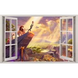 Stickers fenêtre Le roi lion réf 11159
