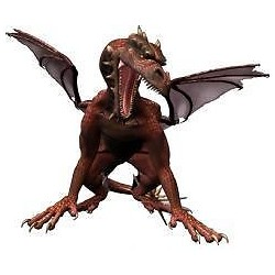 Sticker enfant Dragon 30x25cm