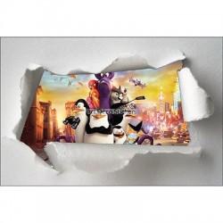Stickers enfant papier déchiré Pingouins réf 7626