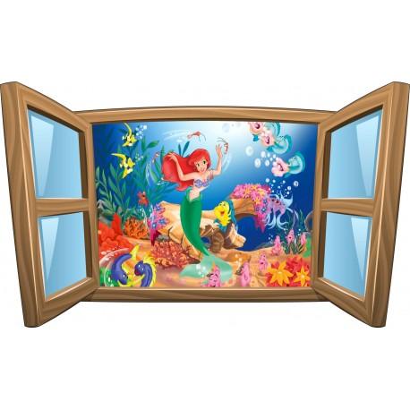 Sticker enfant fenêtre La Petite Sirene réf 959