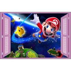 Sticker enfant fenêtre Mario Galaxy réf 934