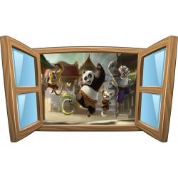 Sticker enfant fenêtre Kun Fu Panda réf 965