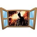Sticker enfant fenêtre Batman réf 1009