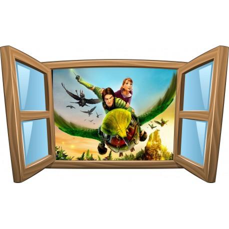 Sticker enfant fenêtre Epic réf 1002