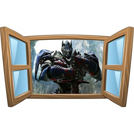 Sticker enfant fenêtre Transformer réf 986