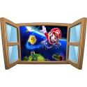Sticker enfant fenêtre Mario réf 974