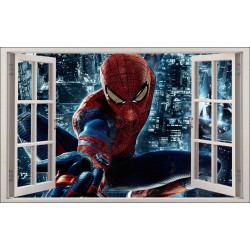 Sticker enfant fenêtre Spiderman réf 1062