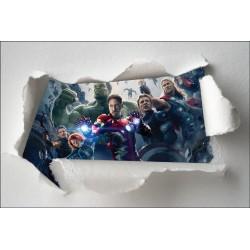 Stickers enfant papier déchiré Avengers réf 7620