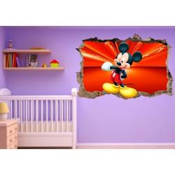 Stickers 3D trompe l'oeil Mickey réf 23241