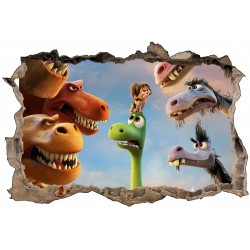 Stickers trompe l'oeil The Good Dinosaur réf 23254