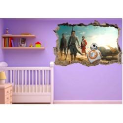 Stickers trompe l'oeil Star Wars réf 23279