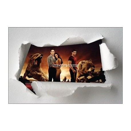 Stickers enfant papier déchiré Twilight réf 7618
