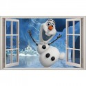 Sticker enfant fenêtre Olaf réf 1058
