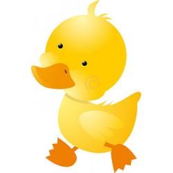 Sticker enfant bébé canard hauteur 30cm