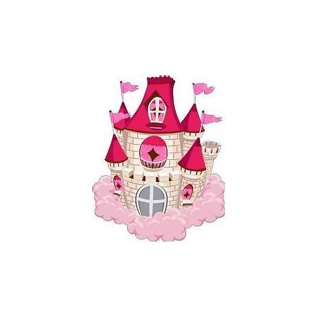 Sticker enfant Chateau hauteur 30cm E452