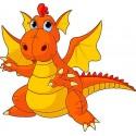Sticker enfant Dragon hauteur 30cm réf 208
