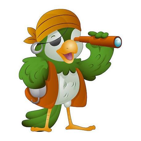 Sticker enfant Perroquet Pirate réf 589