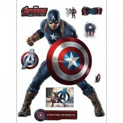 Stickers Captain america Avengers 30x40cm 15034
