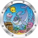Sticker enfant fond marin réf 024