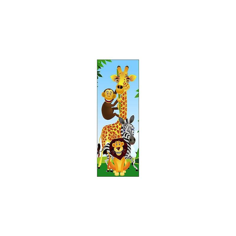 Sticker enfant animaux pour porte plane ou mural r f702 for Decoration porte plane