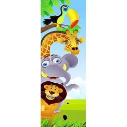 Sticker enfant Animaux porte plane ou mural réf 716