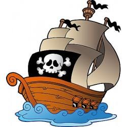 Sticker enfant Bateau Pirate réf 821
