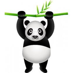 Sticker enfant Panda Bambou réf 830