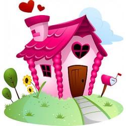Sticker enfant Maison Coeur réf 831