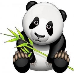 Sticker enfant Panda réf 925 (Dimensions de 10 cm à 130cm de hauteur)