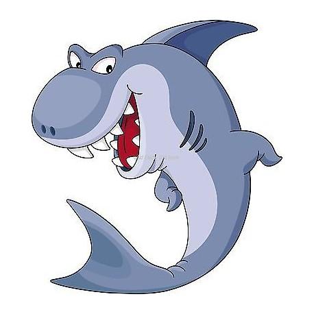 Sticker enfant Shark réf 917 (Dimensions de 10 cm à 130cm de hauteur)