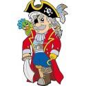 Sticker enfant Pirate réf 913 (Dimensions de 10 cm à 130cm de hauteur)