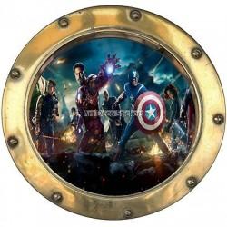 Sticker hublot enfant Avengers réf 9559