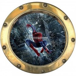 Sticker hublot enfant Spiderman réf 9556